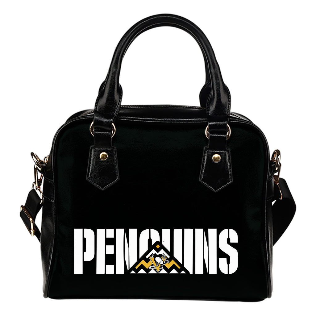 Pittsburgh Penguins Mass Triangle Shoulder Handbags