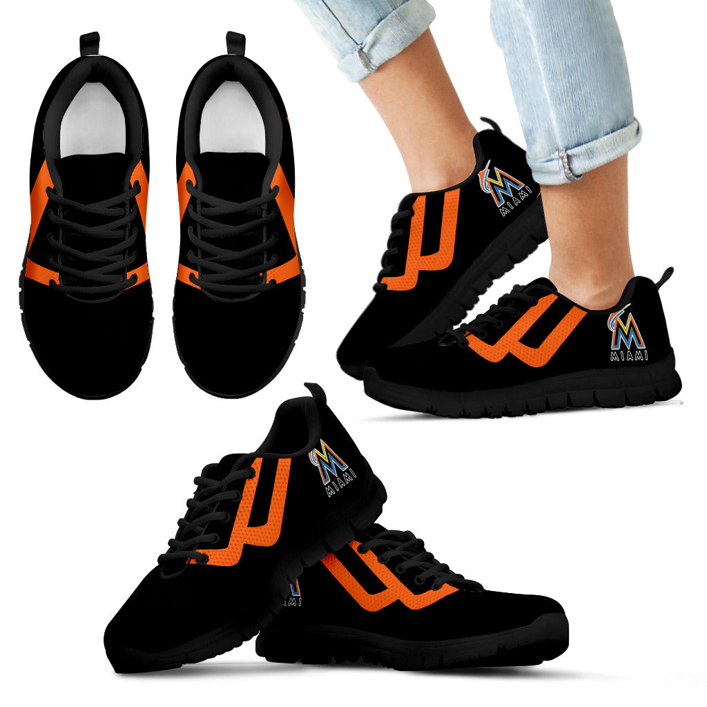 Line Bottom Straight Miami Marlins Sneakers