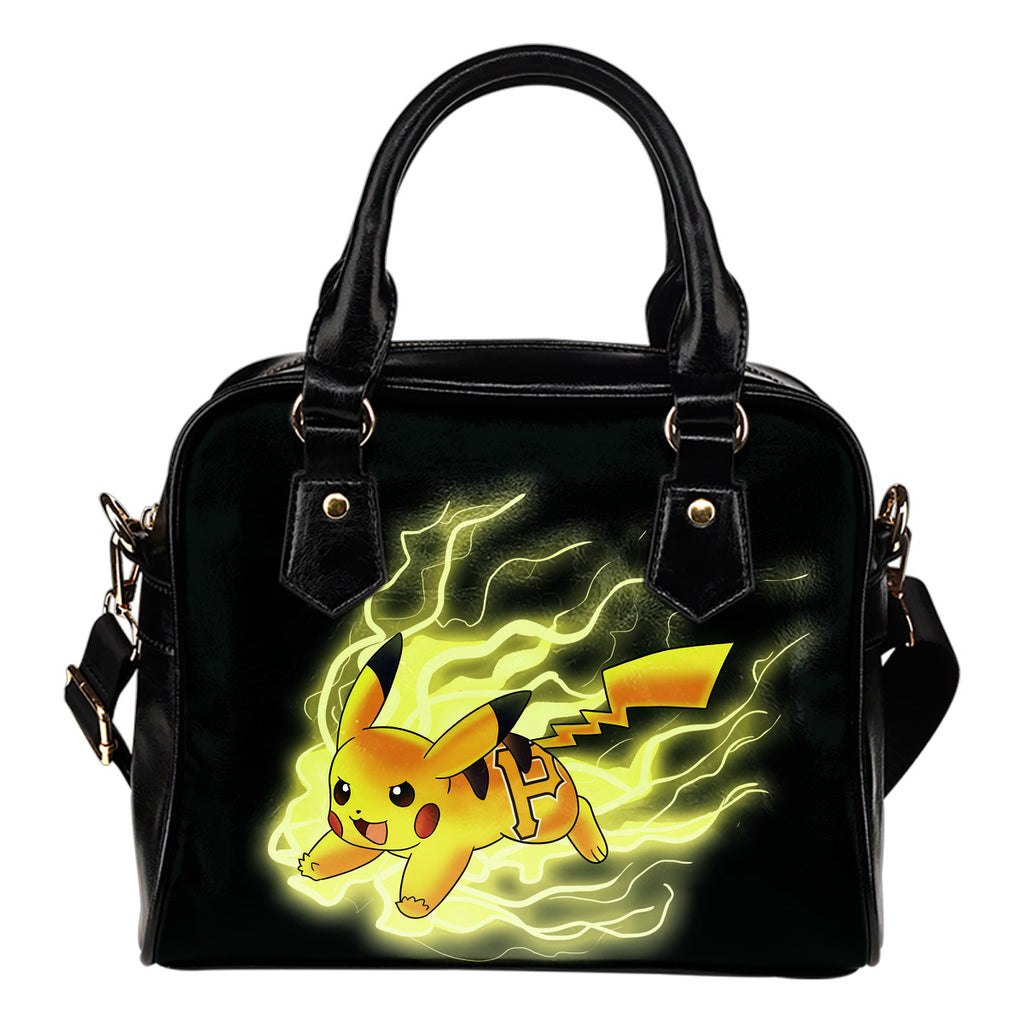 Pikachu Angry Moment Pittsburgh Pirates Shoulder Handbags