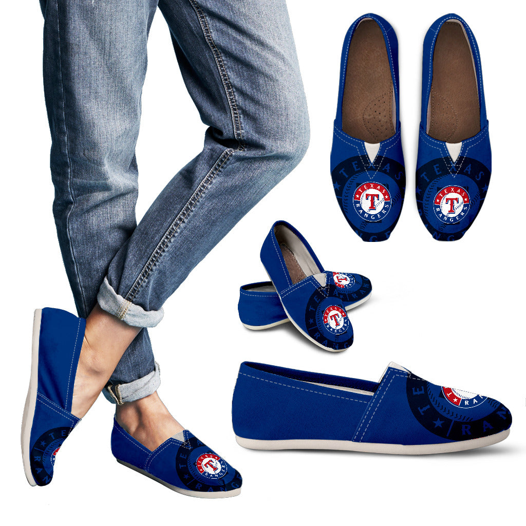 Enormous Logo Mix Tiny Logo Fantastic Texas Rangers Casual Shoes