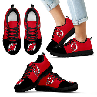 Two Colors Aparted New Jersey Devils Sneakers