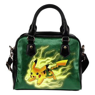 Pikachu Angry Moment Eastern Michigan Eagles Shoulder Handbags
