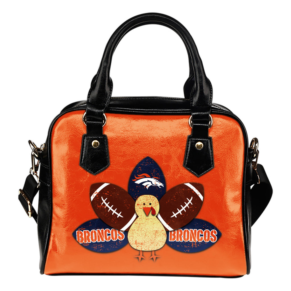 Thanksgiving Denver Broncos Shoulder Handbags - Best Funny Store