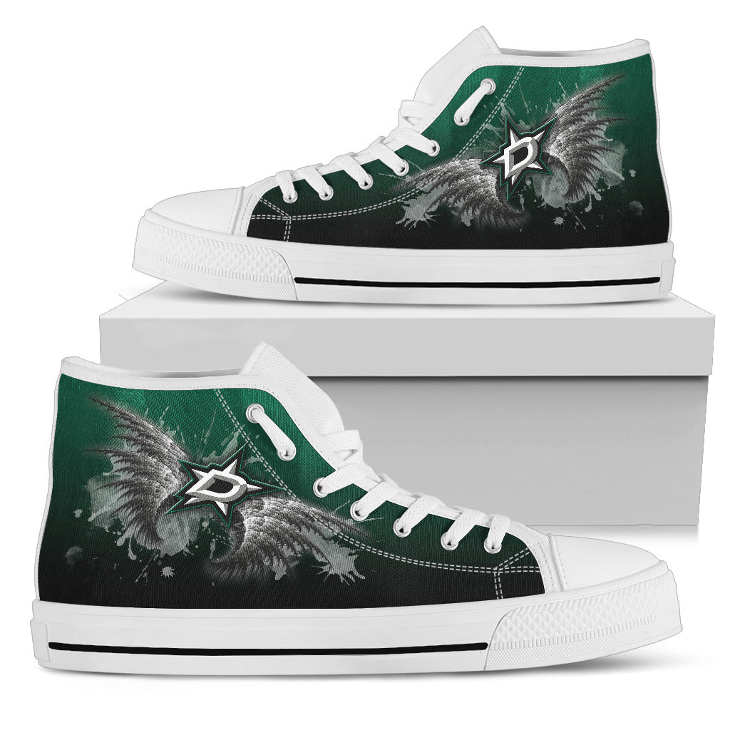 Angel Wings Dallas Stars High Top Shoes