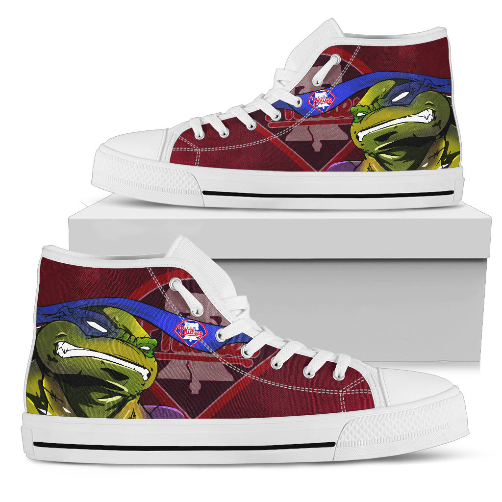 Turtle Philadelphia Phillies Ninja High Top Shoes