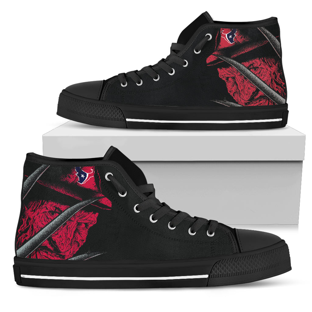 Houston Texans Nightmare Freddy Colorful High Top Shoes