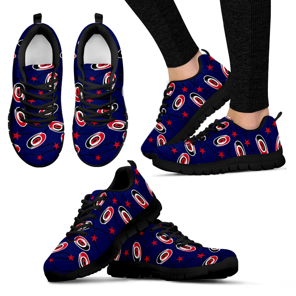 Star Twinkle Night Carolina Hurricanes Sneakers