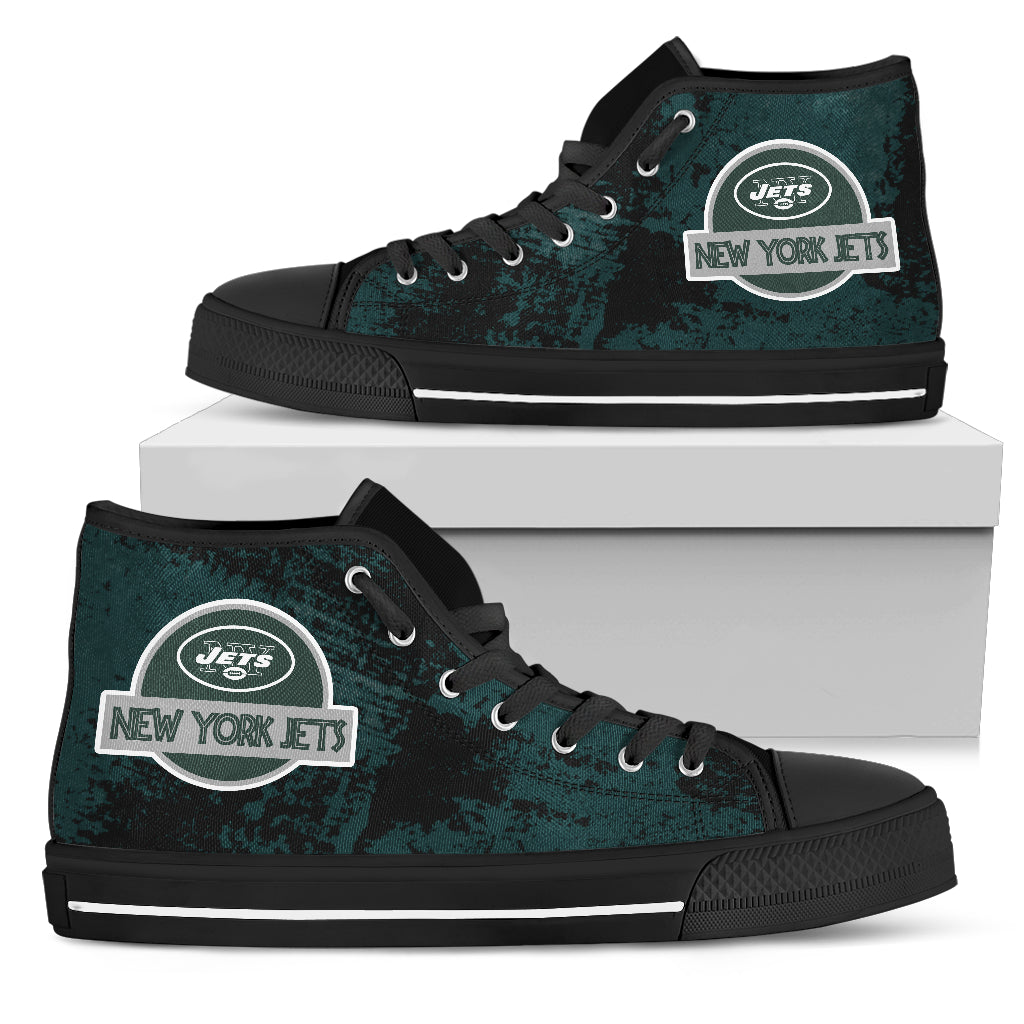 Jurassic Park New York Jets High Top Shoes