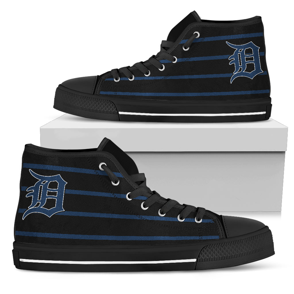 Edge Straight Perfect Circle Detroit Tigers High Top Shoes