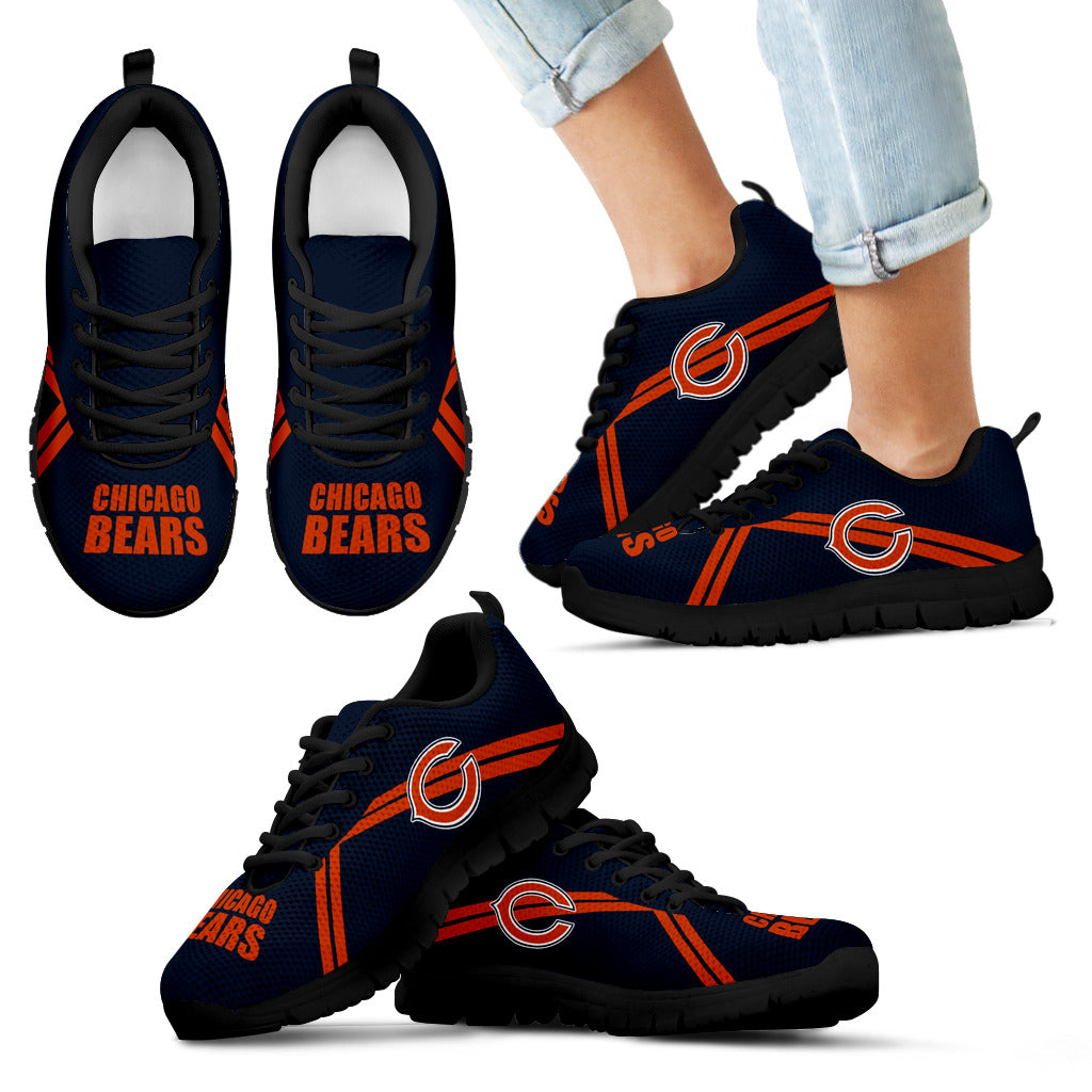 Chicago Bears Parallel Line Logo Sneakers