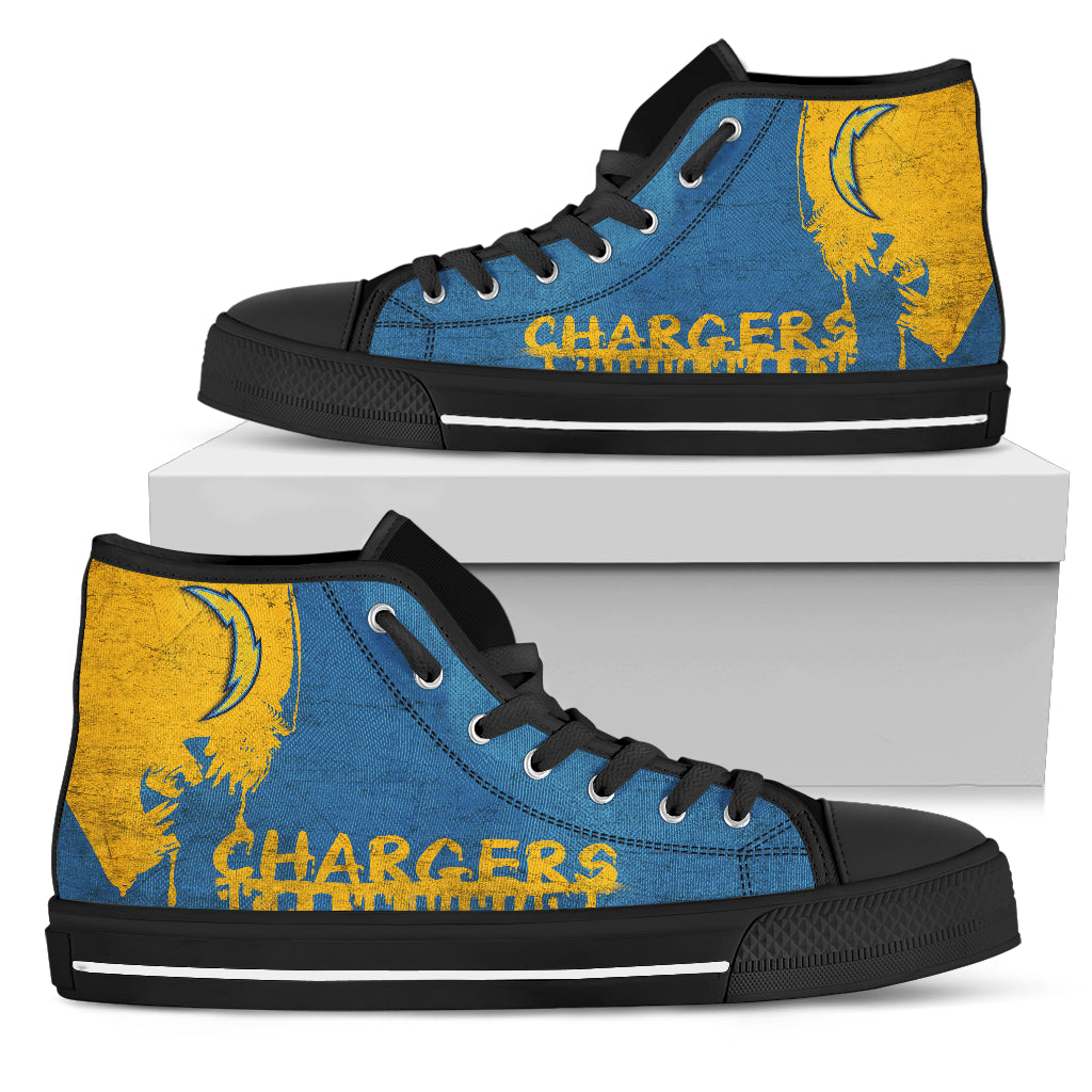 Alien Movie Los Angeles Chargers High Top Shoes