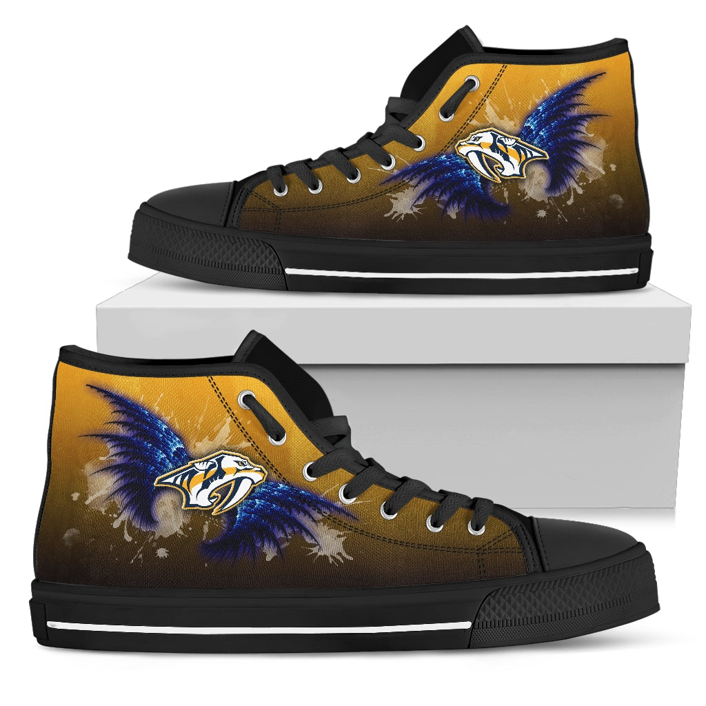 Angel Wings Nashville Predators High Top Shoes