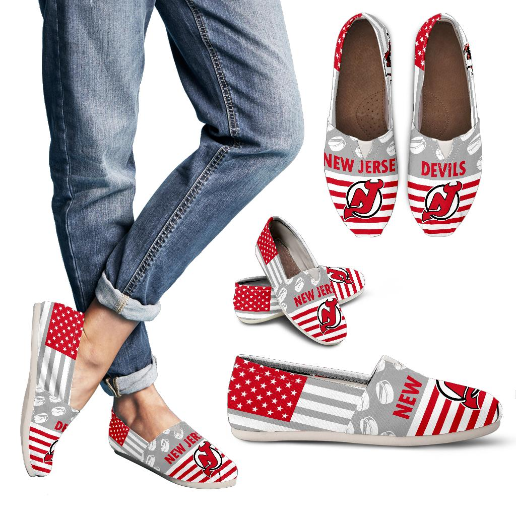 American Flag New Jersey Devils Casual Shoes