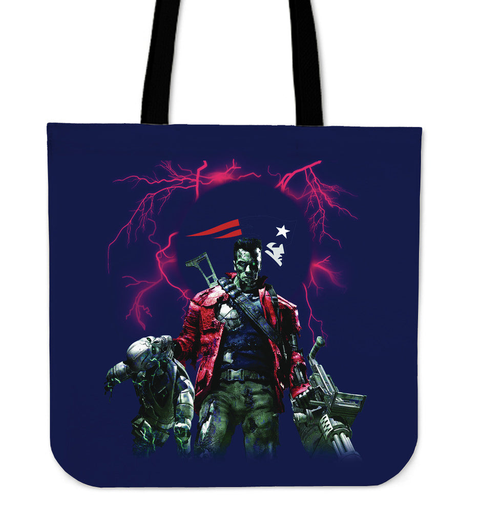 New England Patriots Guns Tote Bag - Best Funny Store