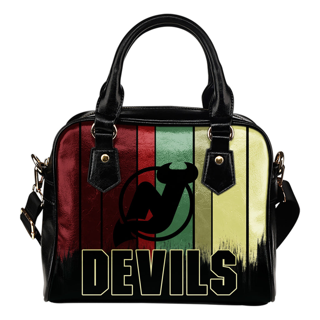Vintage Silhouette New Jersey Devils Purse Shoulder Handbag
