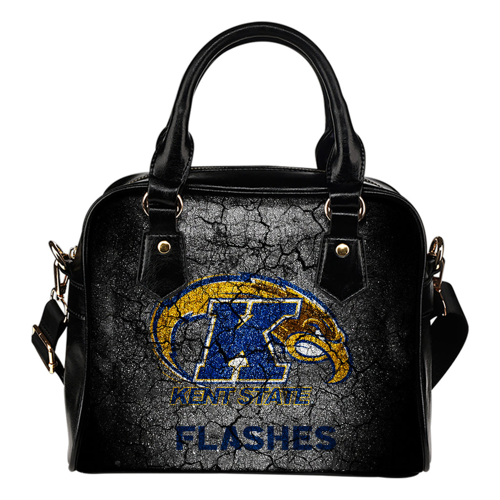 Wall Break Kent State Golden Flashes Shoulder Handbags Women Purse