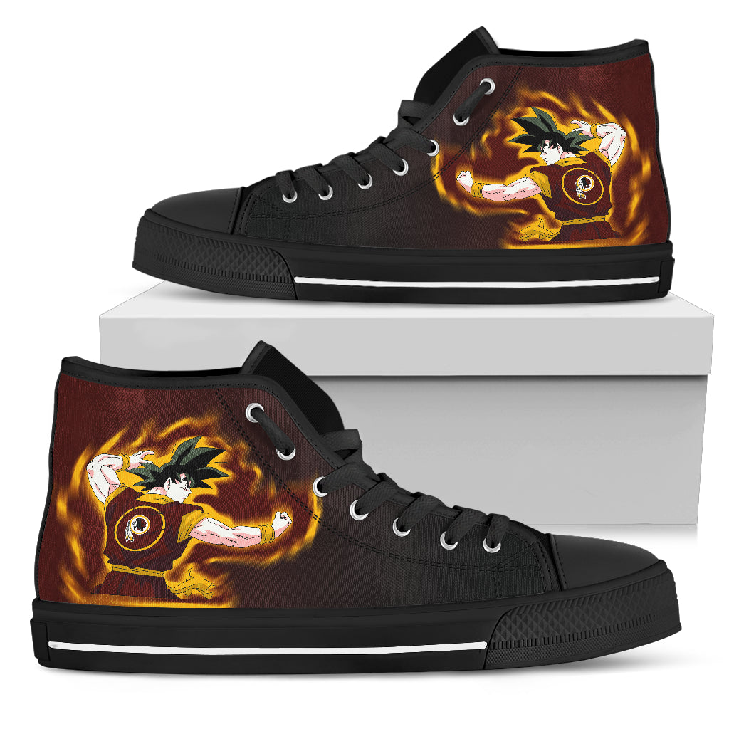 Son Goku Saiyan Power Washington Redskins High Top Shoes
