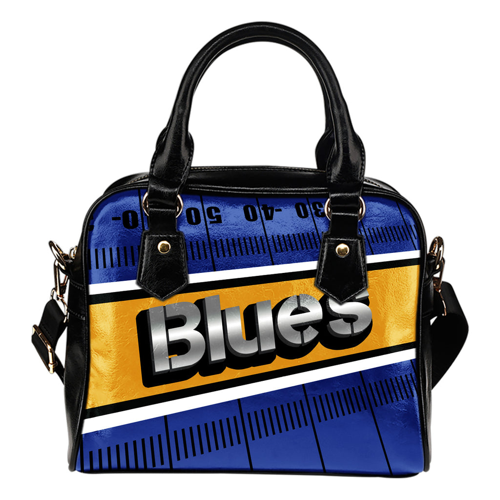 St. Louis Blues Silver Name Colorful Shoulder Handbags