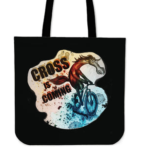 Cycling - Cross Is Coming Tote Bags V2