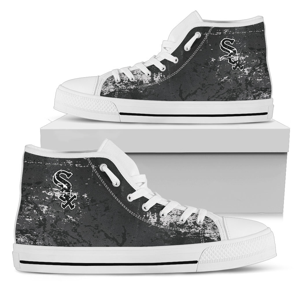 Grunge Vintage Logo Chicago White Sox High Top Shoes
