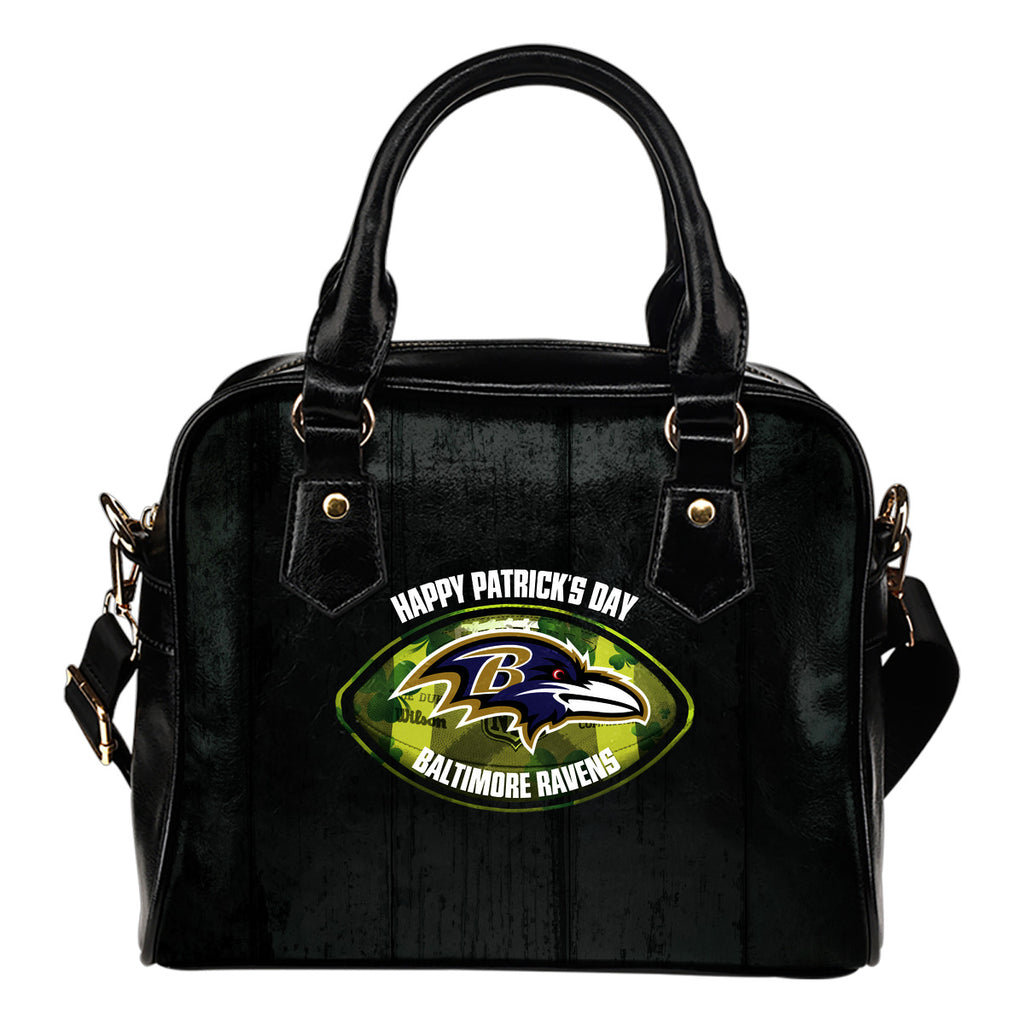 Retro Scene Lovely Shining Patrick's Day Baltimore Ravens Shoulder Handbags