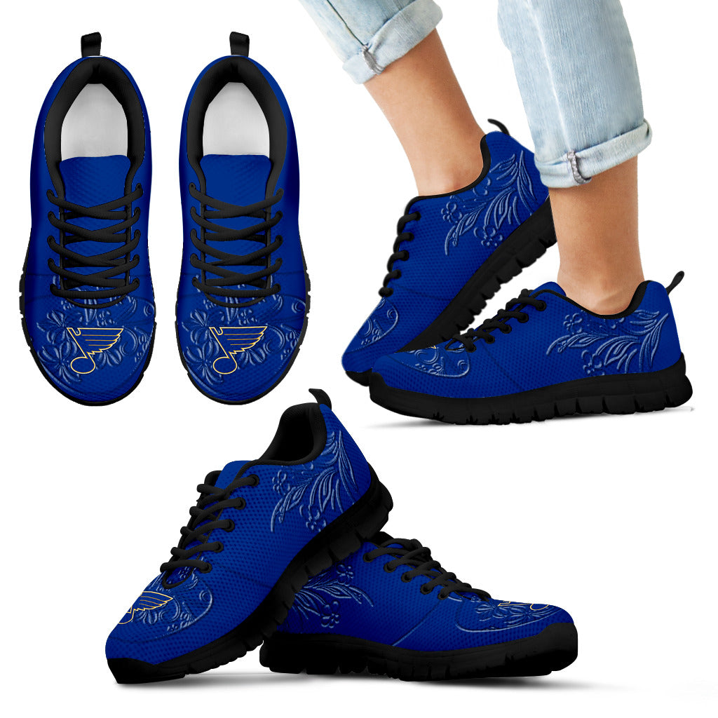 Lovely Floral Print St. Louis Blues Sneakers