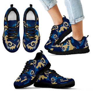 Los Angeles Rams Cotton Camouflage Fabric Military Solider Style Sneakers