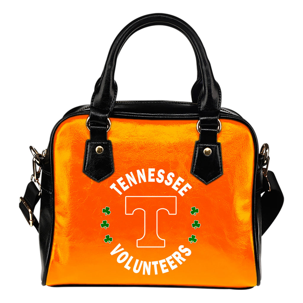 Central Beautiful Logo Circle Lucky Leaf Tennessee Volunteers Shoulder Handbags
