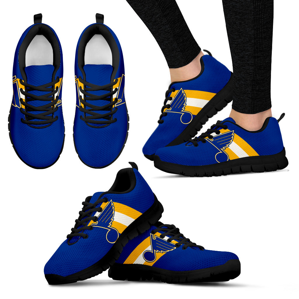 Three Colors Vertical St. Louis Blues Sneakers