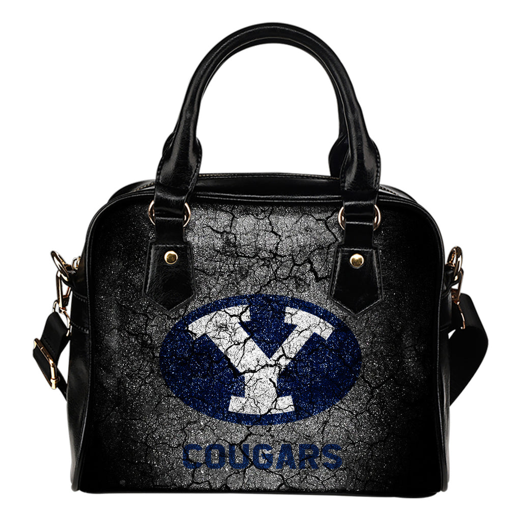 Wall Break BYU Cougars Shoulder Handbags Women Purse