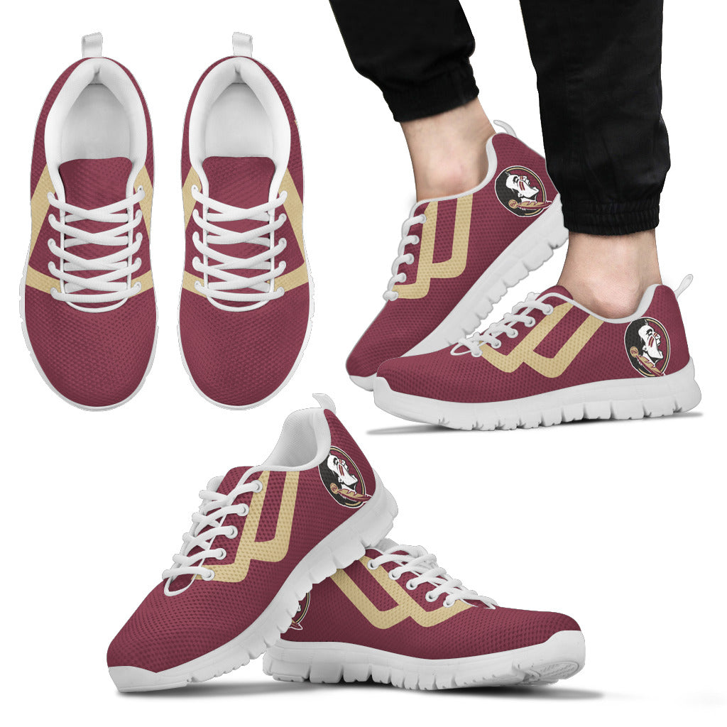 Line Bottom Straight Florida State Seminoles Sneakers