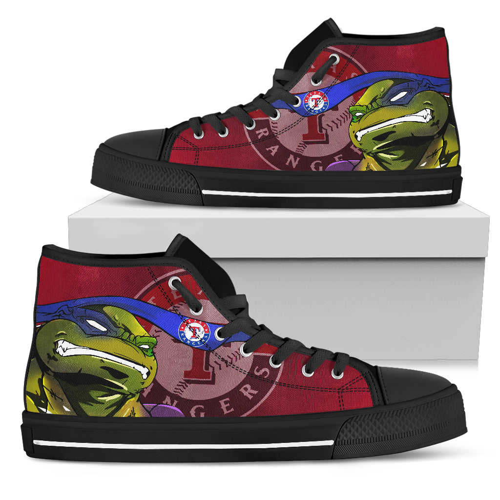 Turtle Texas Rangers Ninja High Top Shoes
