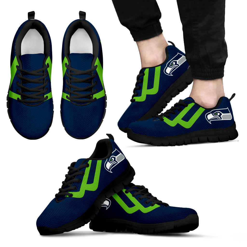 Line Bottom Straight Seattle Seahawks Sneakers