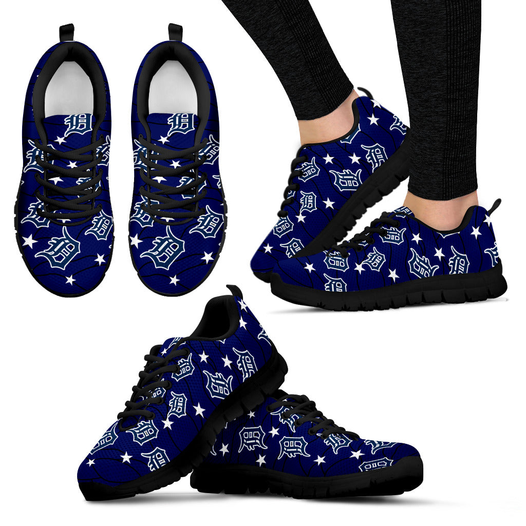 Star Twinkle Night Detroit Tigers Sneakers