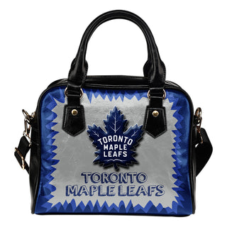 Jagged Saws Mouth Creepy Toronto Maple Leafs Shoulder Handbags