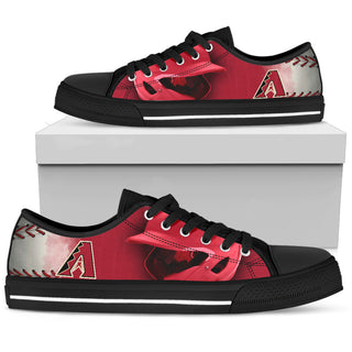 Artistic Scratch Of Arizona Diamondbacks Low Top Shoes