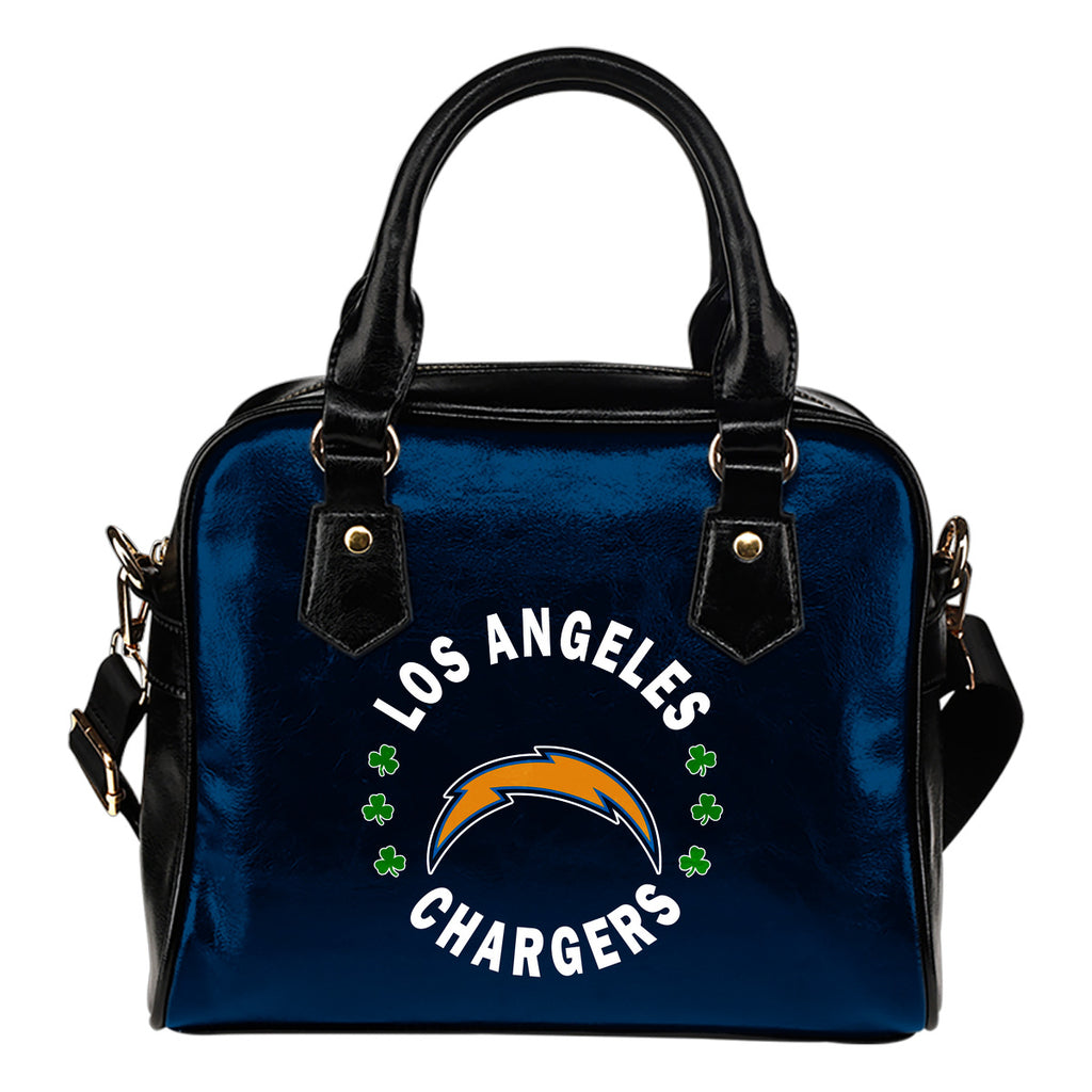 Central Beautiful Logo Circle Lucky Leaf Los Angeles Chargers Shoulder Handbags