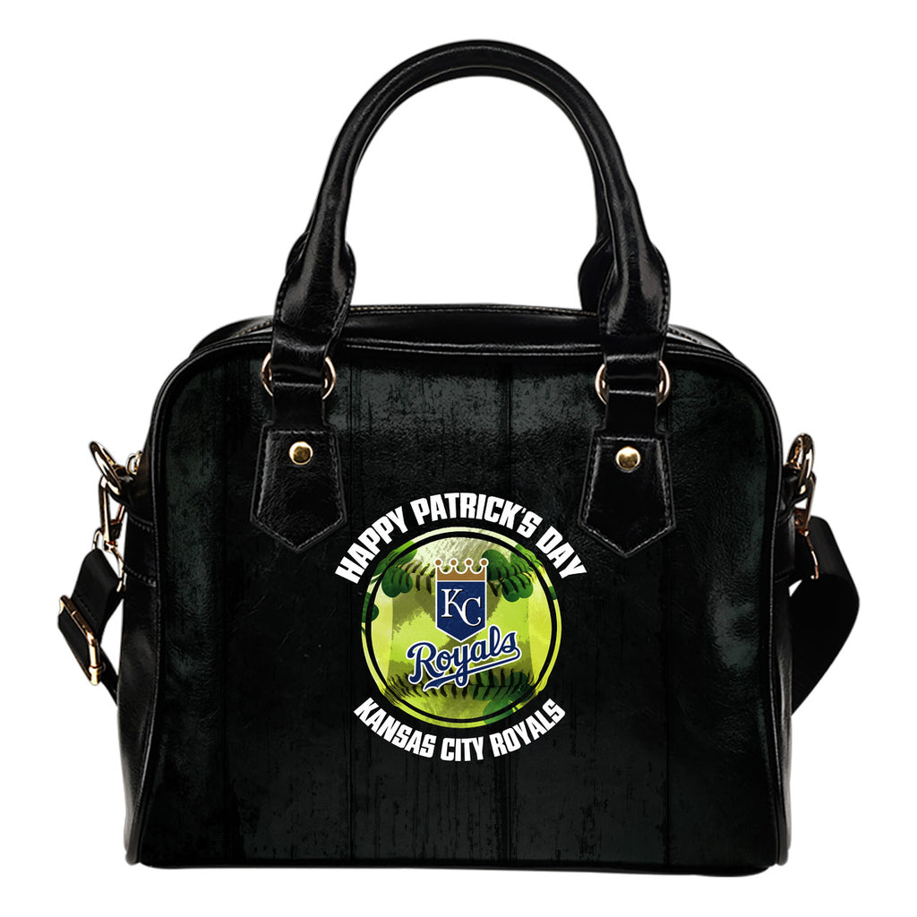 Retro Scene Lovely Shining Patrick's Day Kansas City Royals Shoulder Handbags