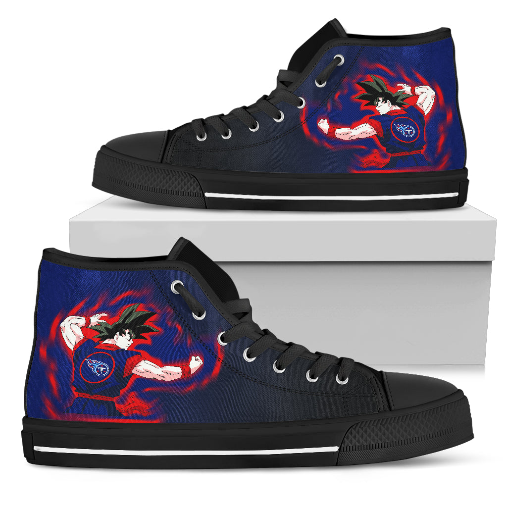 Son Goku Saiyan Power Tennessee Titans High Top Shoes