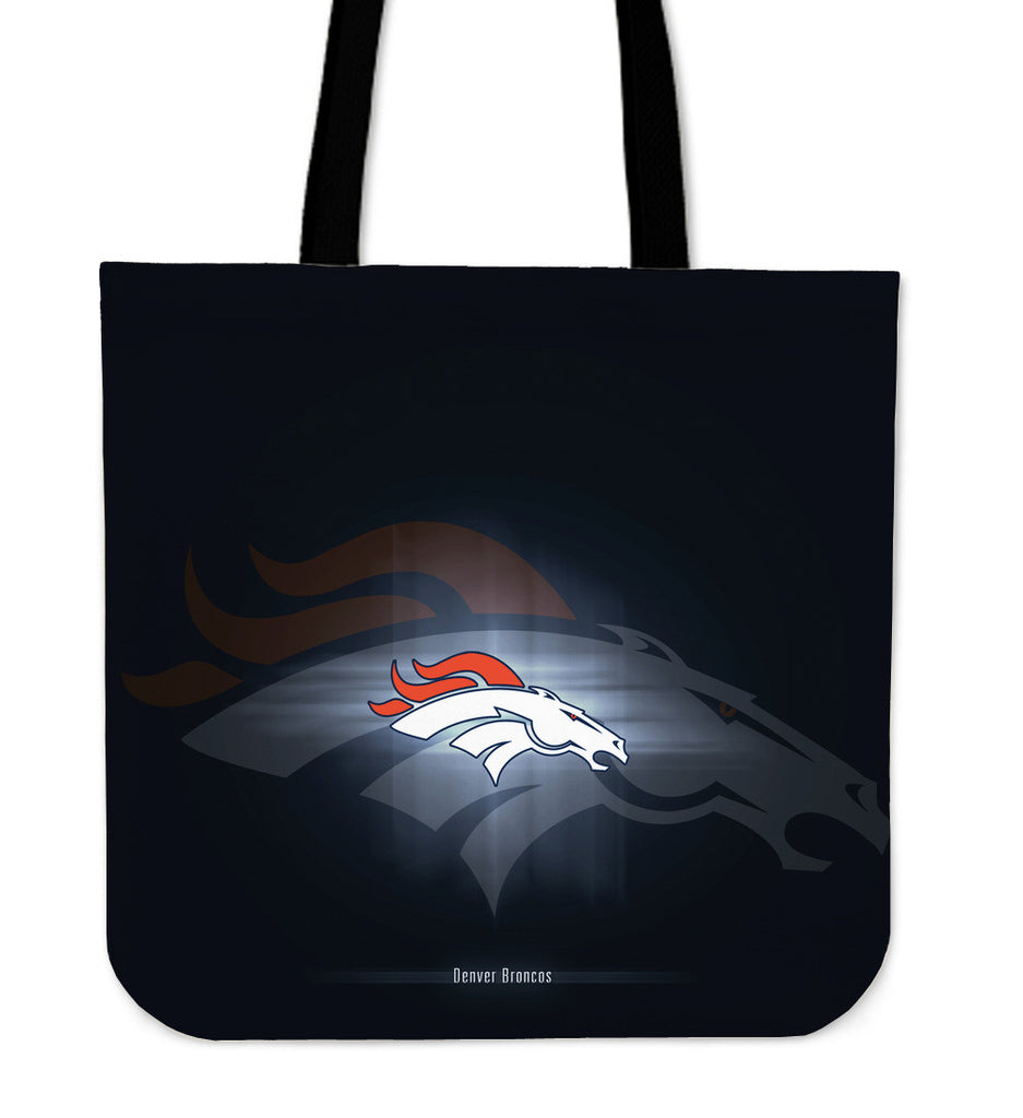 Denver Broncos Light Logo Tote Bags