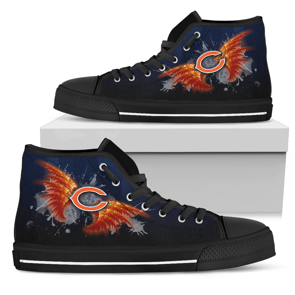 Angel Wings Chicago Bears High Top Shoes