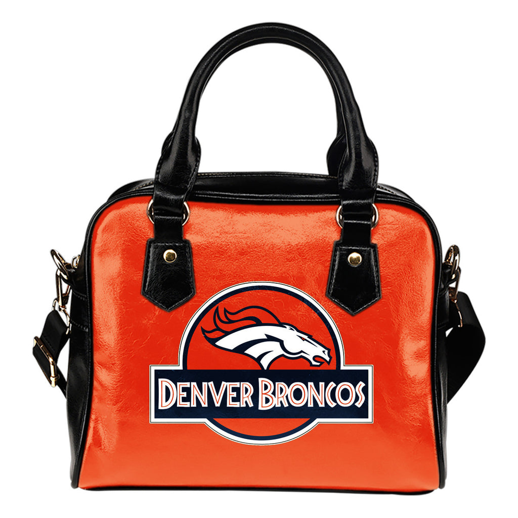 Jurassic Park Denver Broncos Shoulder Handbags - Best Funny Store