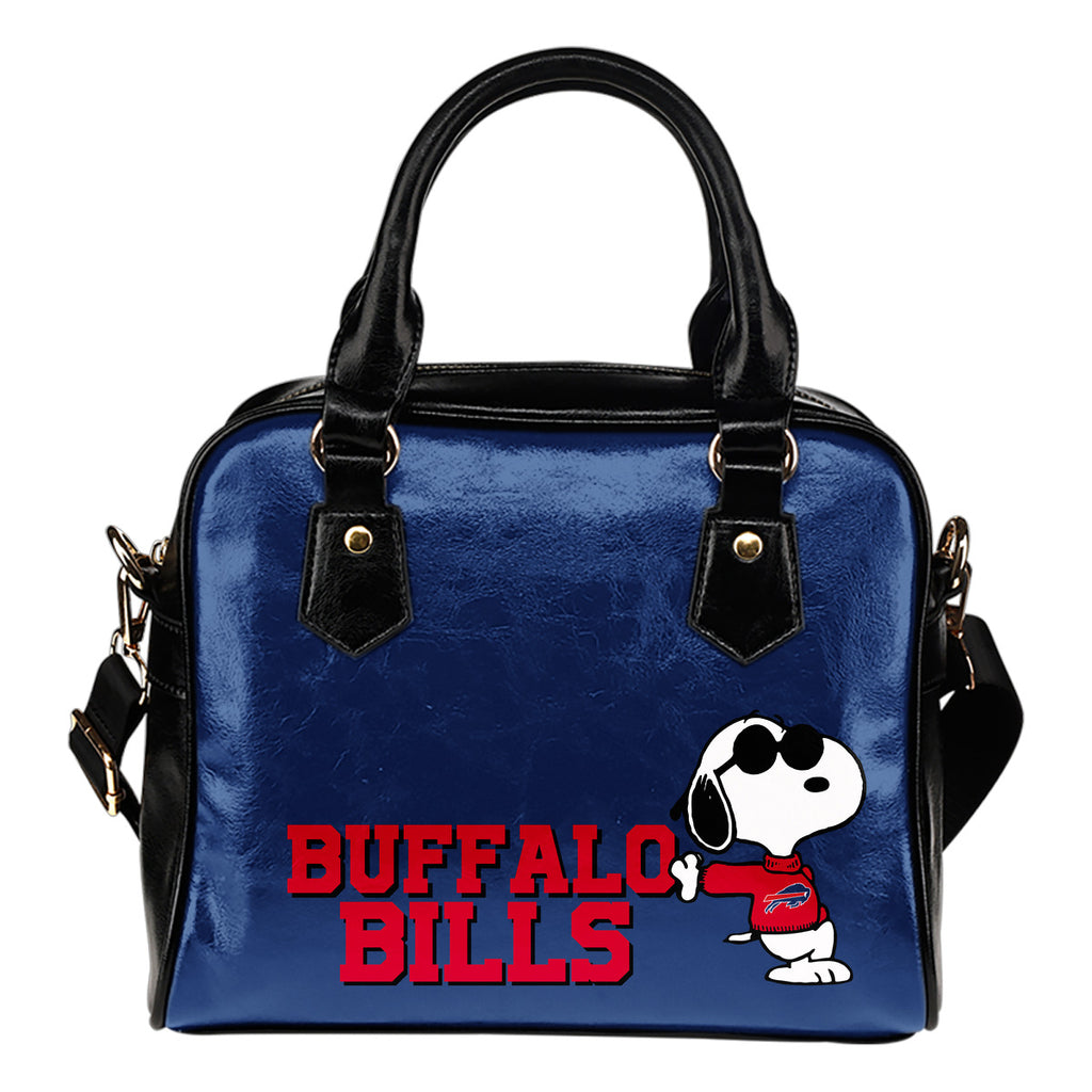 Buffalo Bills Cool Sunglasses Snoopy Shoulder Handbags Women Purse
