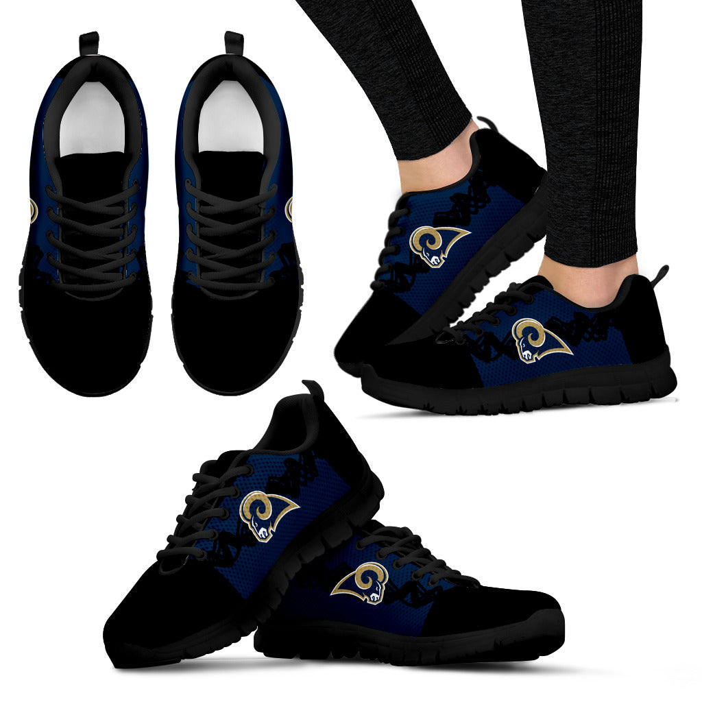 Doodle Line Amazing Los Angeles Rams Sneakers V2