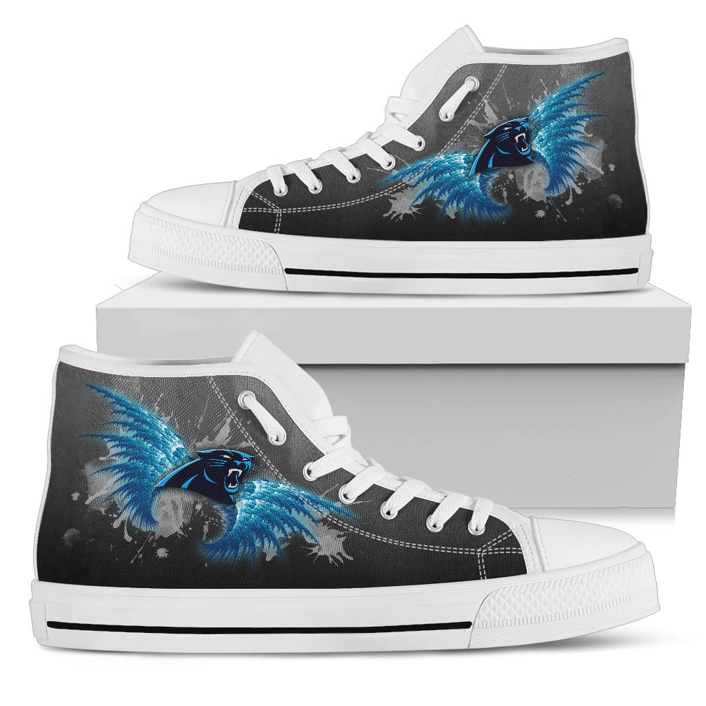 Angel Wings Carolina Panthers High Top Shoes
