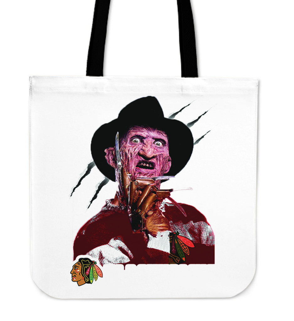 Chicago Blackhawks Freddy Tote Bag - Best Funny Store