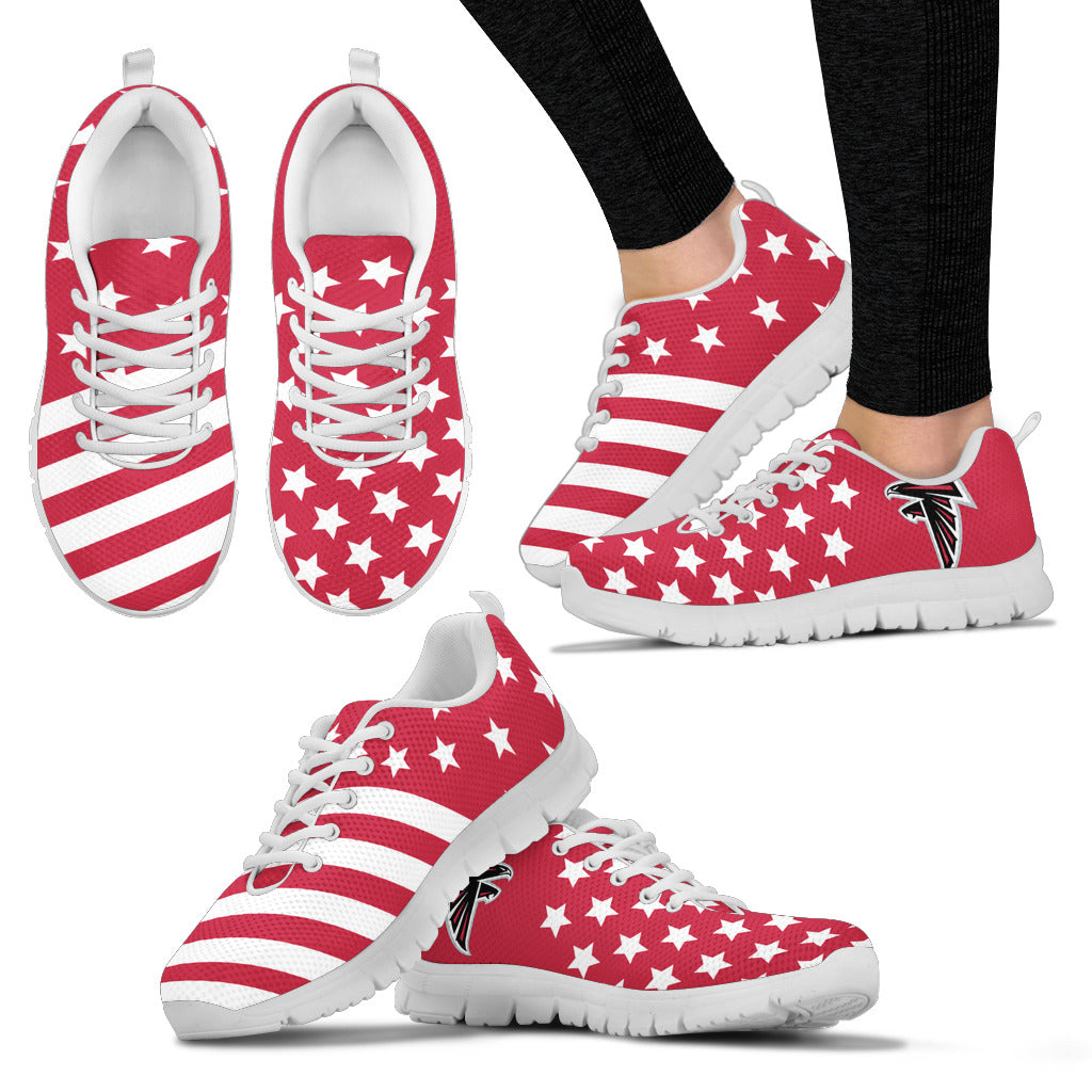 America Flag Full Stars Stripes Atlanta Falcons Sneakers