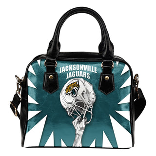 Saw Tooth Border Wonderful Hand Up Jacksonville Jaguars Shoulder Handbag