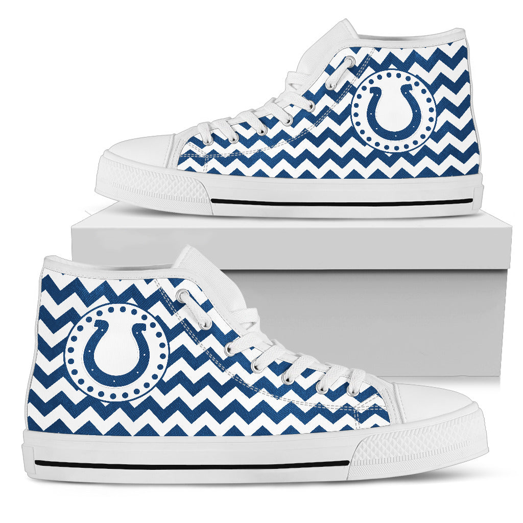 Chevron Broncos Indianapolis Colts High Top Shoes