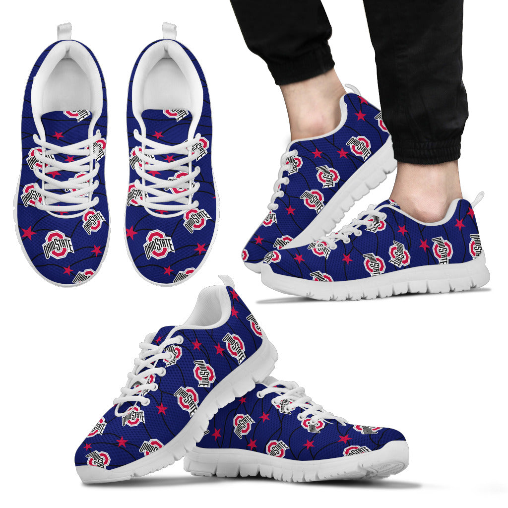 Star Twinkle Night Ohio State Buckeyes Sneakers